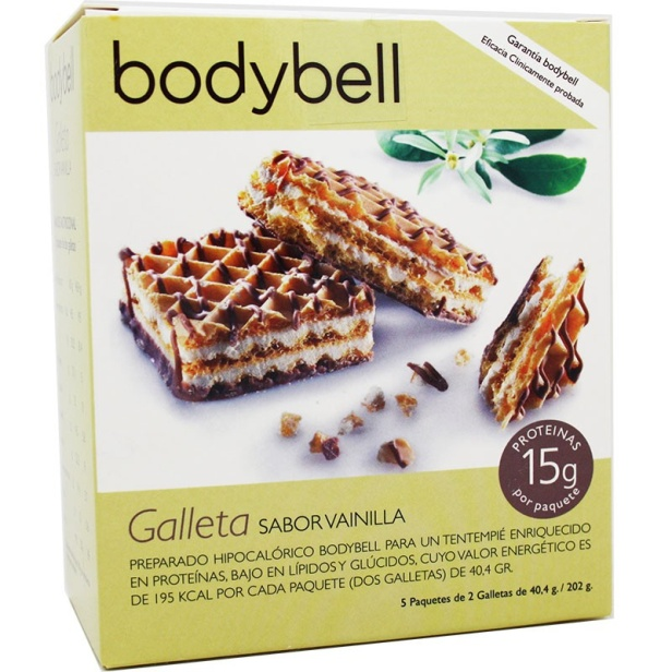 Bodybell Galletas Vainilla 10 Unidades 202 g Fase 2