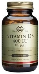 Solgar Vitamina D3 400 Ui 100 Capsulas Blandas