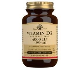 Solgar Vitamina D3 4000 Ui 60 Capsulas Vegetales