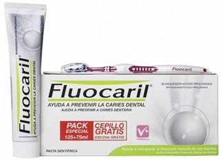 Fluocaril Blanqueador Pasta 125ml + Pasta 75ml + Cepillo Medio