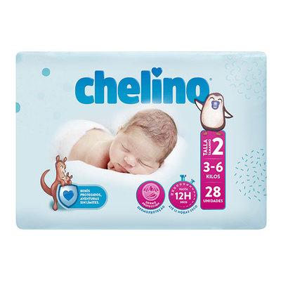 Chelino Pañal Bebe Talla 2 3-6 kg 28 unidades