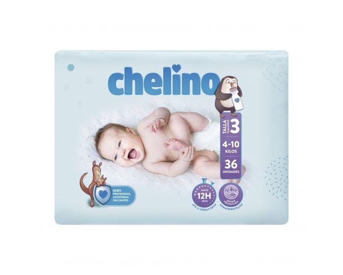 Chelino Pañal Bebé Talla 3 (4 a 10 kgs) 36 unidades