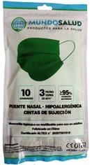 Mundosalud Mascarillas Higienicas Verdes Pack 10 unidades